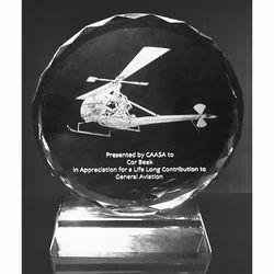 2D Crystal Glass Trophy