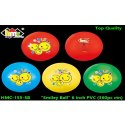 6 Inch Non-toxic Pvc Smiley Balls