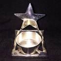 Tli Nickel Star Shape Tealight Holder For Christmas Decoration