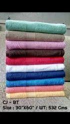Plain Soft Bath Towel, For Home, Size: 30x60