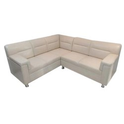 Wooden 4 Person Living Room L Shape Sofa Set, For Home