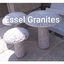 Carved Granite Mushrooms