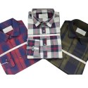 Mens Full Sleeves Cotton Check  Shirt