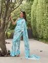 Sweet Linen Printed Party Wear Saree