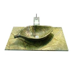Leaf Stone Wash Basin