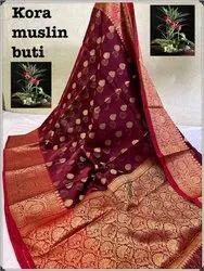 Banarasi Kora Silk Buti Work Sarees