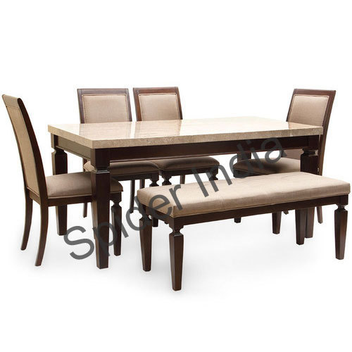 Teak Wood Carving Dining Table Set Rs 48000 Set Spider India Id