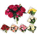 Plastic Artificial Peony Flower Bunch, For Interior Decor, Packaging Type: Packet