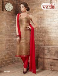 Cotton Dress Material Whit Chiffon Dupatta