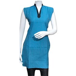 Polka Dot Cotton Printed Kurti