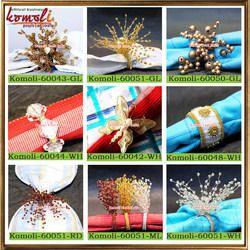 Designer Beaded Handmade Napkin Rings Holders