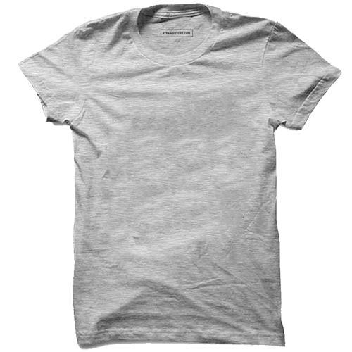 0891279eea1 Cotton Small Mens Grey Plain T-Shirt