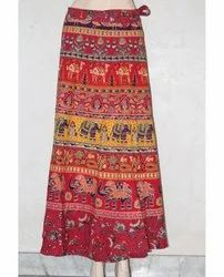 Jaipuri Print Cotton Wrap Skirt