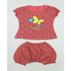 Printed Baby Girl Top and Shorts