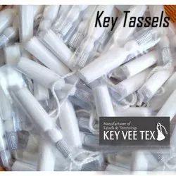 White Silk Key Tassels