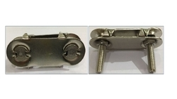 Manco Natural Stainless Steel Conveyor Belt Fasteners, Size: 2