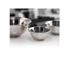Silver Round Mixing Bowl W/Holes & Foot, Size: 18 To 28 Cm