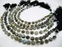 Natural Labradorite Heart Shape Briolette 7Mm Beads Strand 8 Inches.