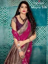 Manjubaa Mayra Silk Banarasi Saree Catalog Collection