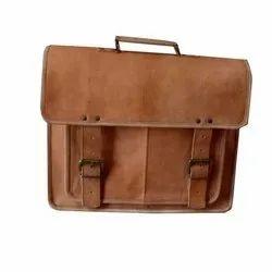 Brown Leather Laptop Side Bag