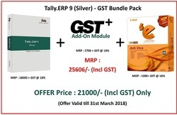 Tally.ERP9 (Silver) GST Bundle Pack (Tally Single User )