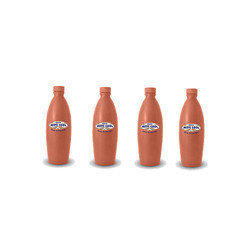 4 Piece Clay Water Bottle Combo