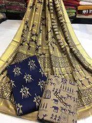 Printed Regular Wear Pure Cotton Dress Material