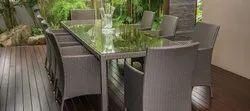 Garden Furniture Wicker Dining Set