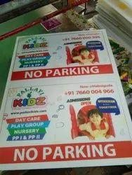 No Parking Board