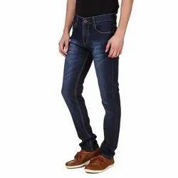 Button Men Dark Blue Denim Jeans