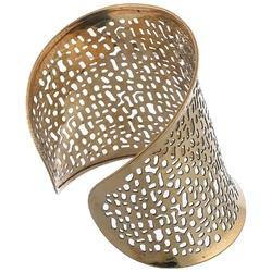 Indian Party Wear Golden Cuff Bangles
