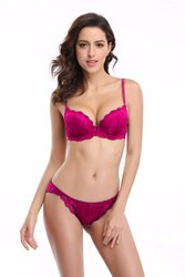 eb111f57e Fabgruh Lace Pink Color Bra   Panty Set