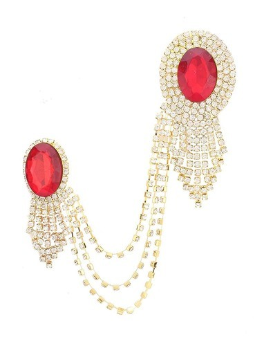 05712f2a0 Red And Gold Standard Sherwani Brooch, Rs 80 /piece M. M. ...