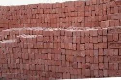 Rectangle Red Construction Bricks, Size: NR
