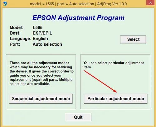 Epson Resetter Softwares - Epson L 565 Resetters Softwares