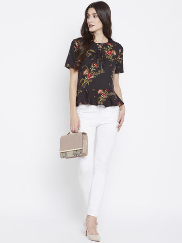 51f87d4218335 Product Image. Read More. Zastraa Brown Floral Printed Top