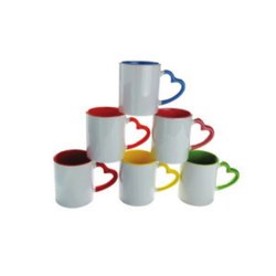 Heart Handle Colour Mug
