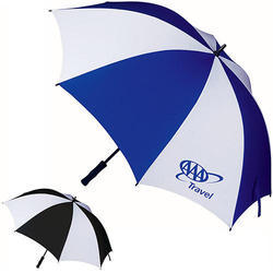 f121891c29f0a Polyester Printed Blue And White Promotional Umbrella, Rs 140 /piece ...