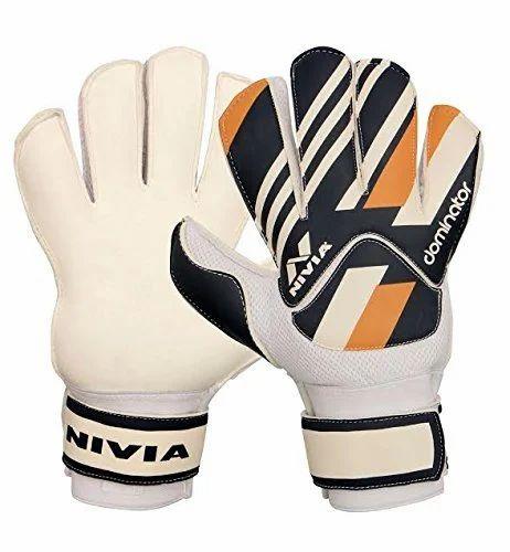 7d356c4c0a8 Multi Color Football Goalkeeper Gloves Dominator Nivia GG-913