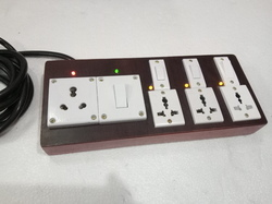 3 Pin 4 Way Electrical Switch Board