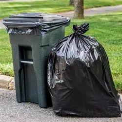Black HDPE Disposable Garbage Bag