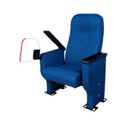Blue Auditorium Chair With Writing Board