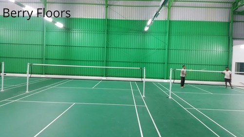 Green Synthetic Badminton Shuttle Court Flooring Mat Rs
