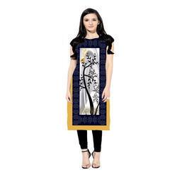 Ladies Printed Party Wear Kurti