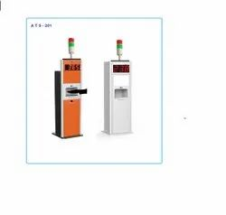 Automatic Body Temperature detector with sanitiser kiosk