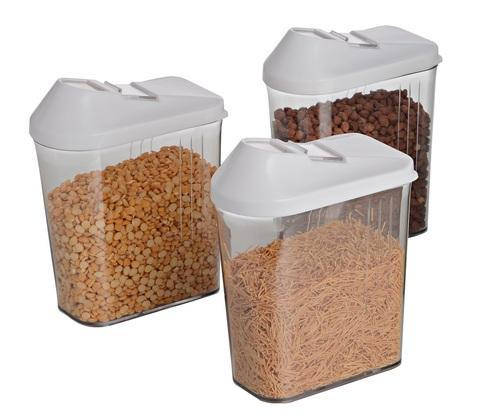 Plain Rectangular Jen Easy Flow Storage Container, Capacity: 750 Ml