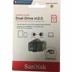 Sandisk Ultra Dual 64gb 3.0 Otg Pen Drive