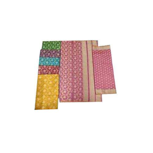 Ladies Banarasi Cotton Unstitched Suit, Packaging: Packet
