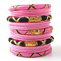 Indian Handcraft Fashion Stock Clearance Silk Thread Bangles