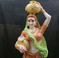 Marble Decorative Statue Lady Figure
